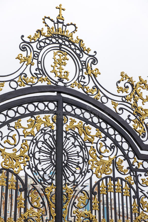 Portone Catherine Palace, San Pietroburgo fotografie stock libere da diritti
