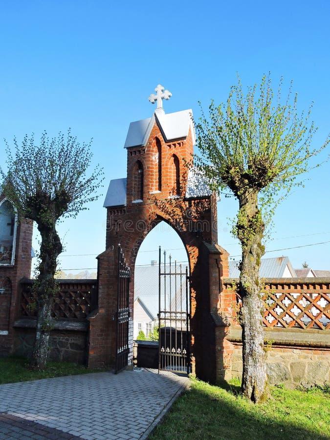 Portone cattolico del sagrato, Lituania immagine stock libera da diritti