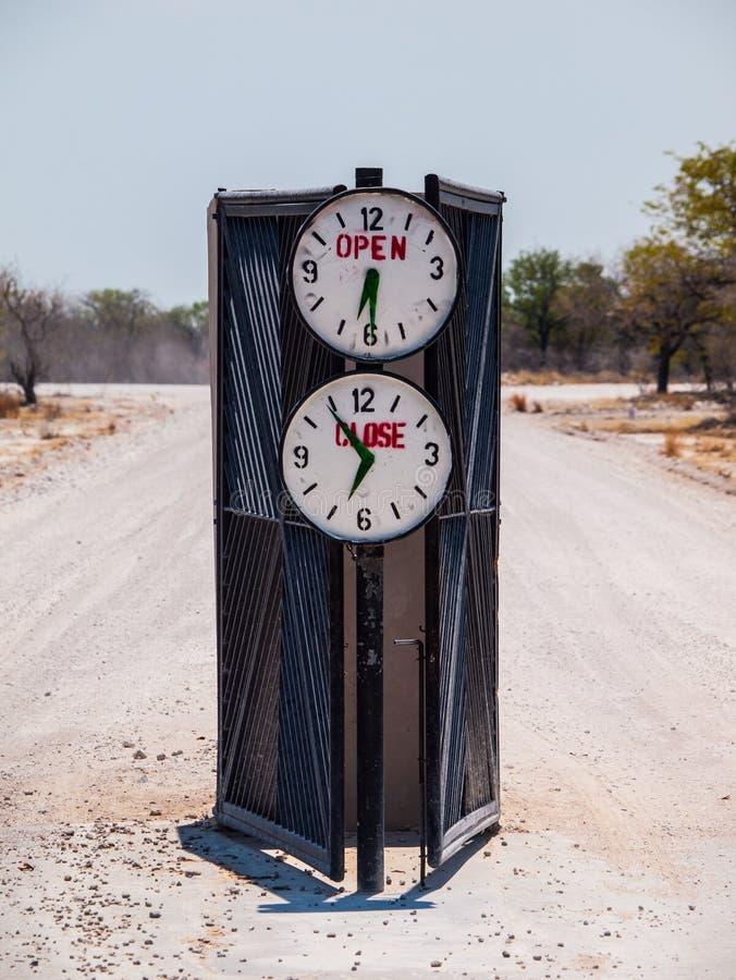 Portone del campeggio con la profonda apertura ed il tempo di chiusura immagine stock libera da diritti