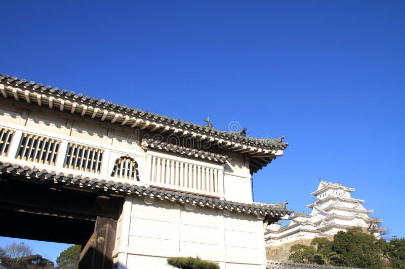 Portone del castello del castello di Himeji a Himeji immagine stock