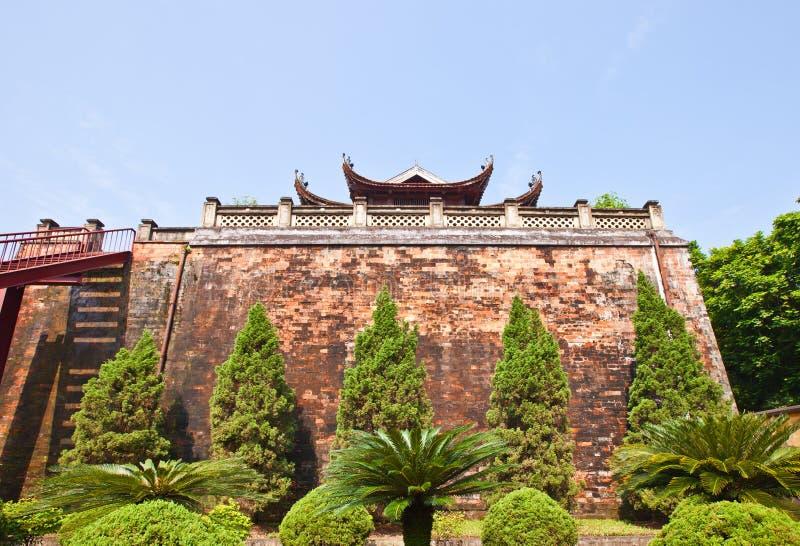 Portone del nord (1805) della cittadella imperiale a Hanoi, Vietnam fotografia stock libera da diritti