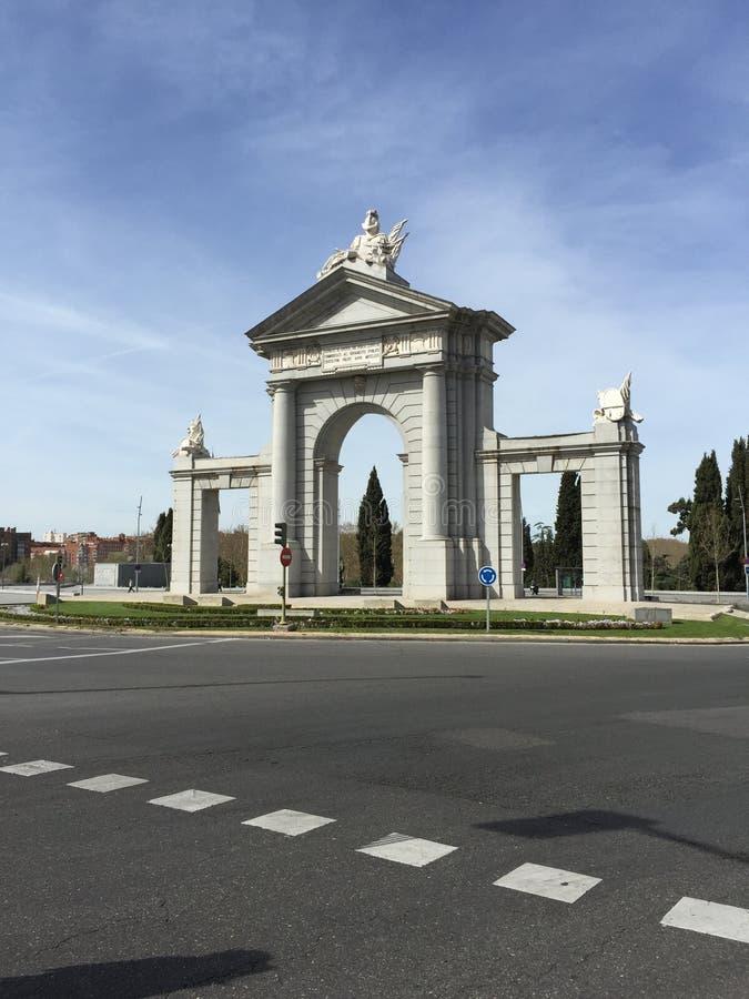 PORTONE DEL ` S DI SAINT-VINCENT DI MADRID fotografie stock