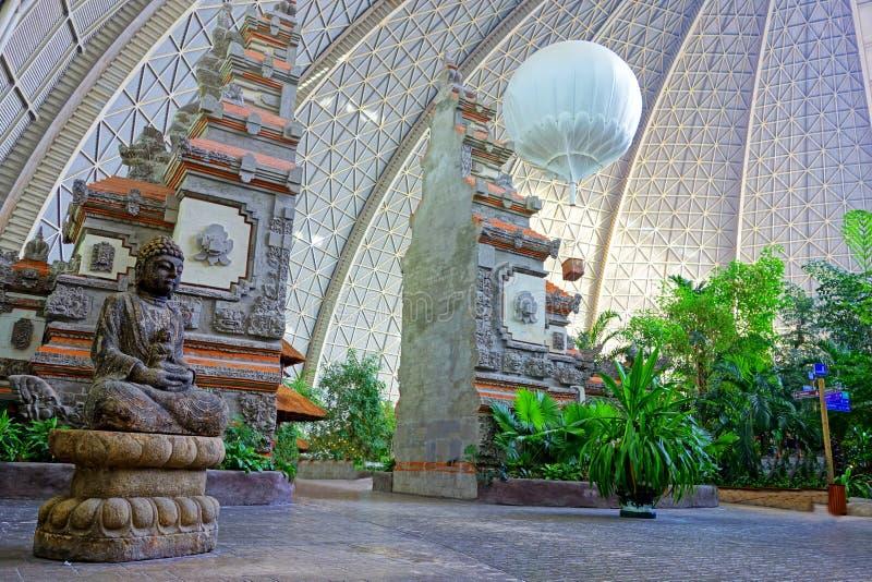 Portone del tempio di balinese fotografie stock libere da diritti