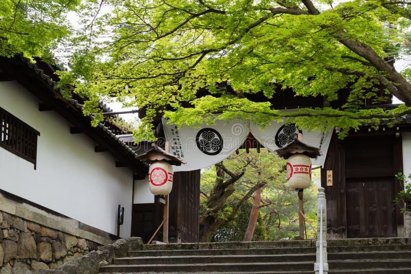 Portone del tempio di Chion-ji immagine stock