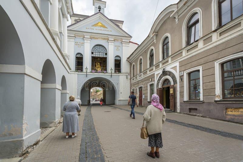 Portone dell'aurora a Vilnius fotografia stock libera da diritti
