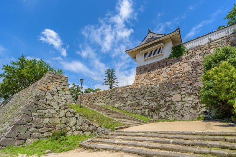 Portone dell'entrata del castello di Okayama o del castello del corvo fotografia stock libera da diritti