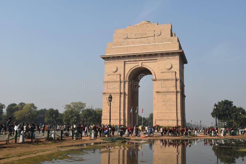 Portone dell'India, Nuova Delhi, India del nord fotografie stock libere da diritti