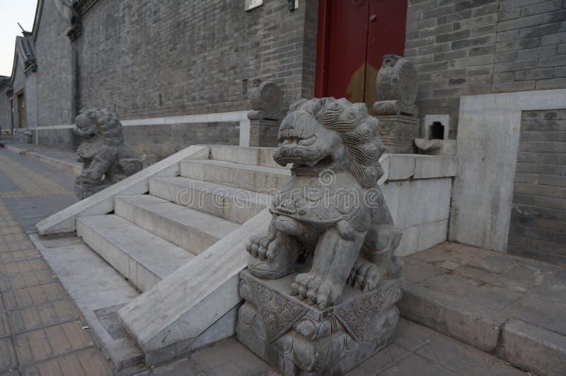 Portone della Camera del cinese tradizionale fotografie stock libere da diritti