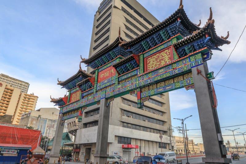 Portone della città di Manila Cina a Manila immagini stock