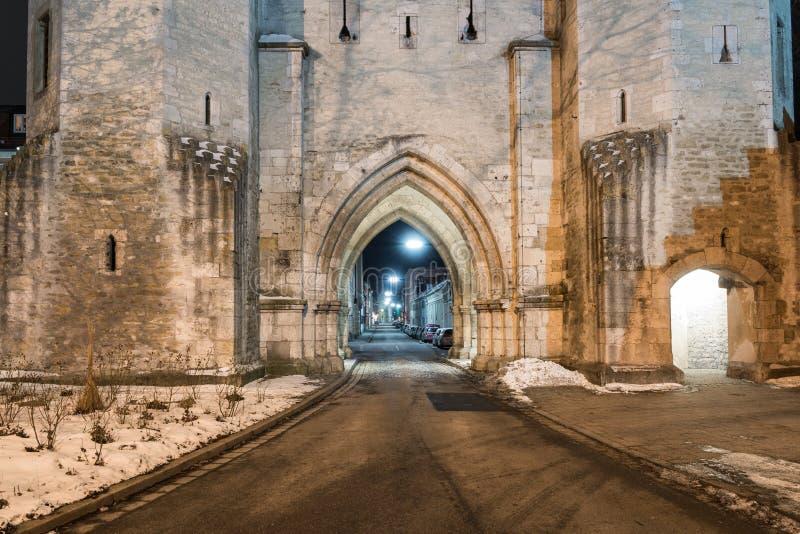 Portone della città di Ostentor a Regensburg, Germania fotografia stock