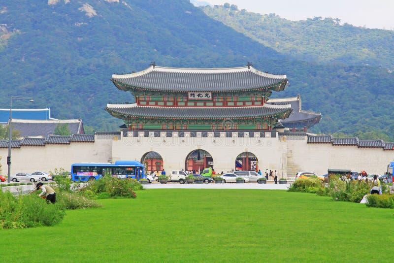 Portone della Corea Seoul Gwanghwamun immagine stock libera da diritti