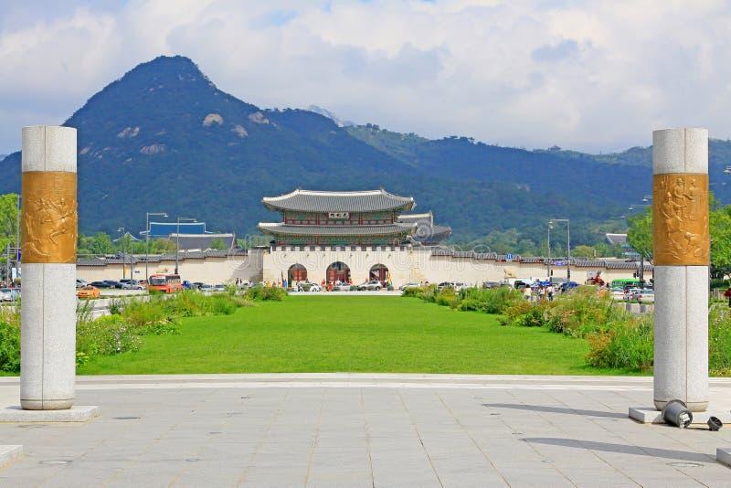 Portone della Corea Seoul Gwanghwamun immagini stock