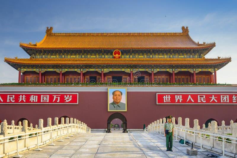 Portone della piazza Tiananmen a Pechino fotografia stock libera da diritti