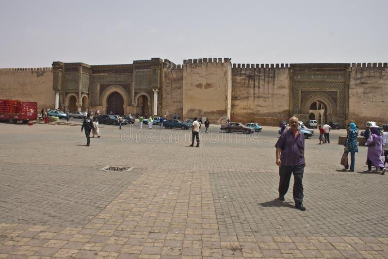 Portone di Bab el-Mansour fotografie stock libere da diritti