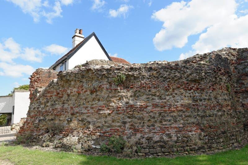 Portone di Balkerne, Colchester, Regno Unito immagine stock libera da diritti