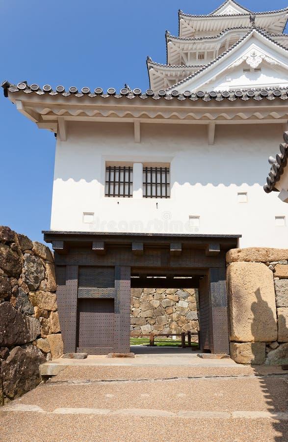 Portone di Bizen del castello di Himeji, Giappone Sito dell'Unesco immagini stock