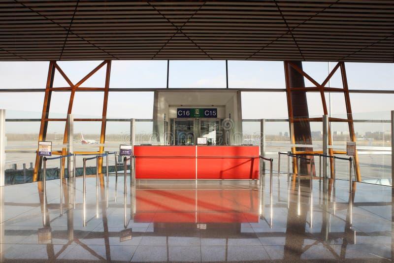 Portone di imbarco dell'aeroporto immagine stock