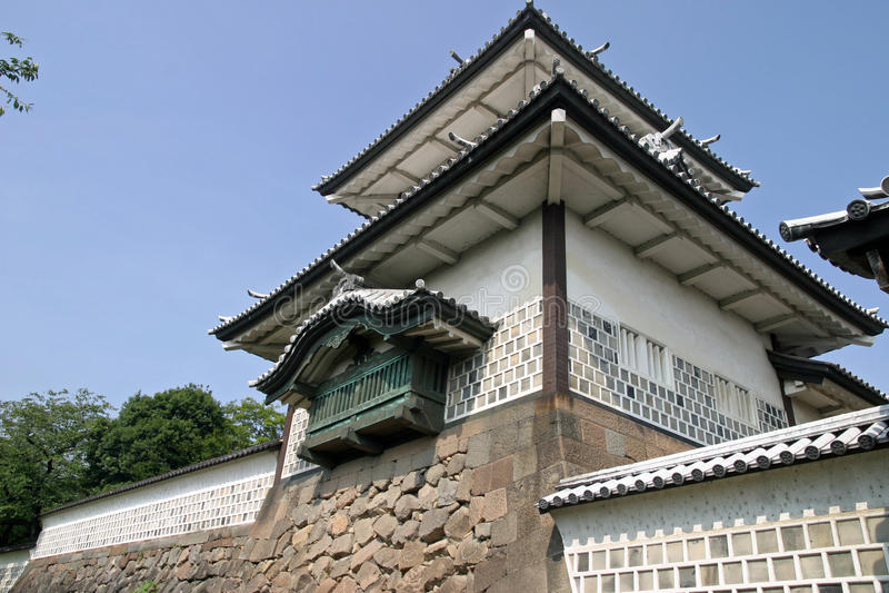 Portone di Ishikawa del castello di Kanazawa fotografia stock libera da diritti