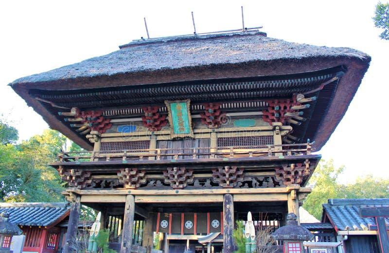 Portone di lunedì del  di RÅ di Aoi Aso Shrine fotografia stock libera da diritti