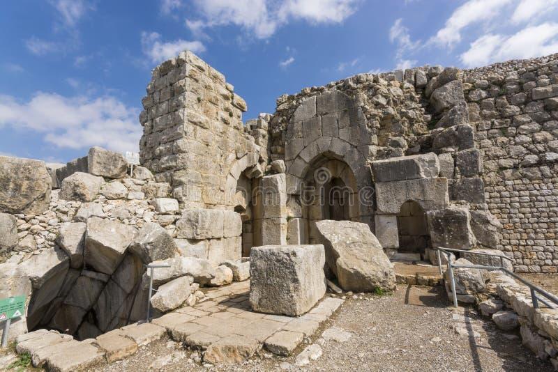 Portone di Nimrod Fortress Ruins fotografie stock libere da diritti