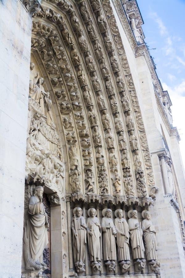 Portone di Notre Dame Cathedral fotografie stock