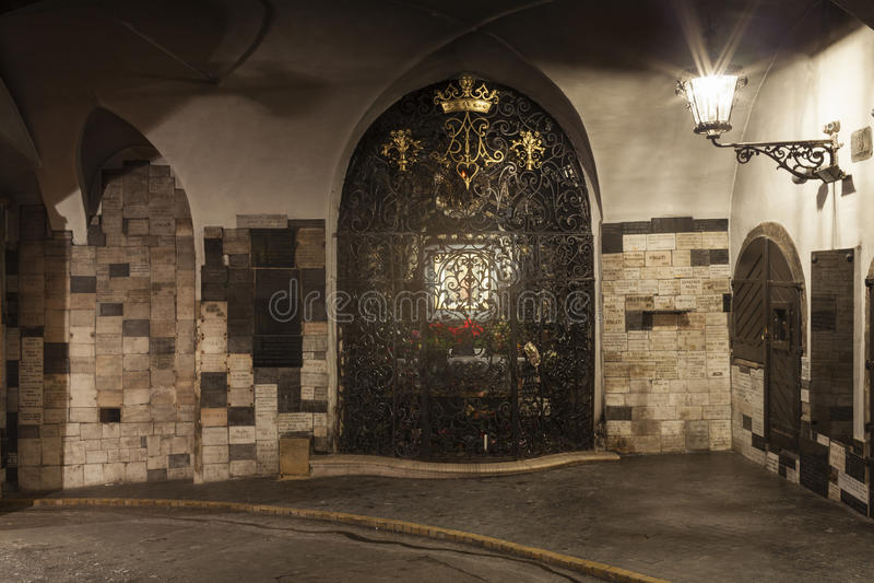 Portone di pietra zagabria La Croazia immagine stock libera da diritti