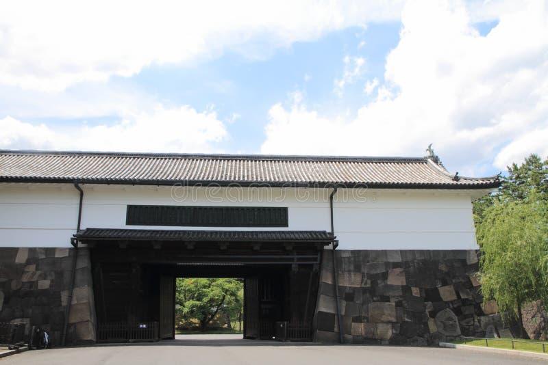 Portone di Sakurada del castello di Edo fotografie stock libere da diritti