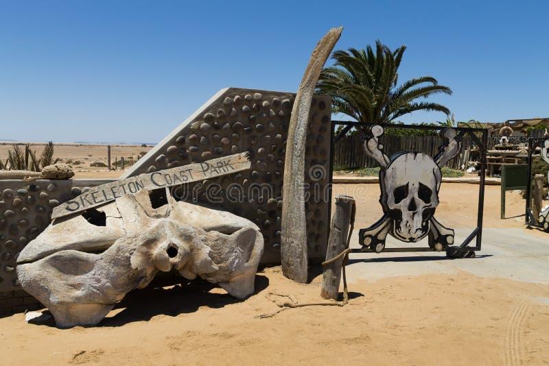 Portone di scheletro della costa fotografia stock libera da diritti