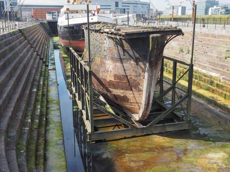 portone di serratura del cassone a Belfast immagine stock