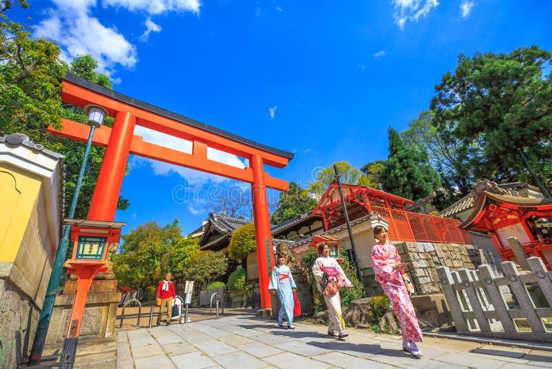 Portone di Torii di Yasaka fotografie stock