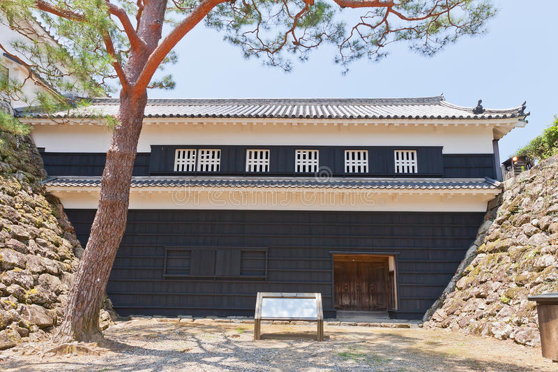 Portone di Tsumemon (Guardroom) del castello del Kochi, città del Kochi, Giappone immagini stock