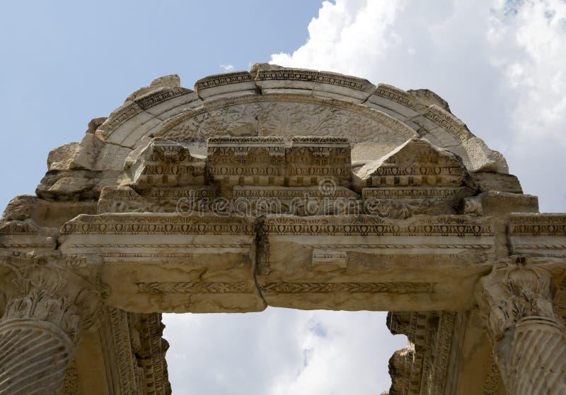 Portone famoso di Tetrapylon in Afrodisia fotografie stock libere da diritti