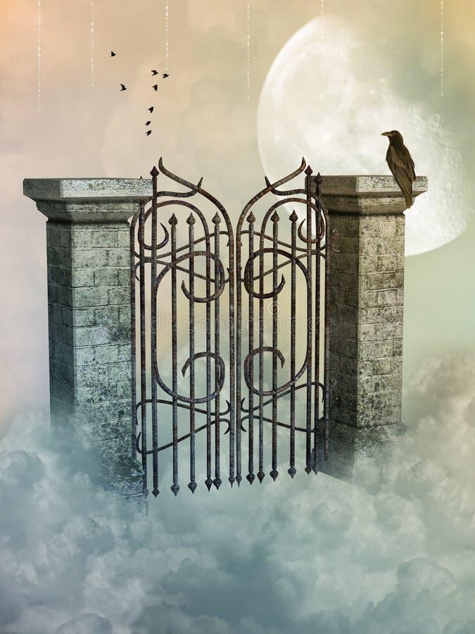 Portone nel cielo royalty illustrazione gratis