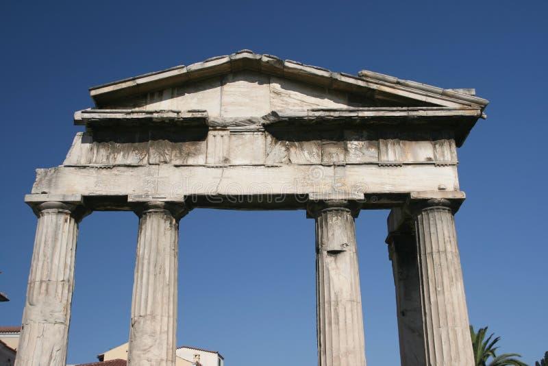 Portone romano del mercato fotografie stock libere da diritti