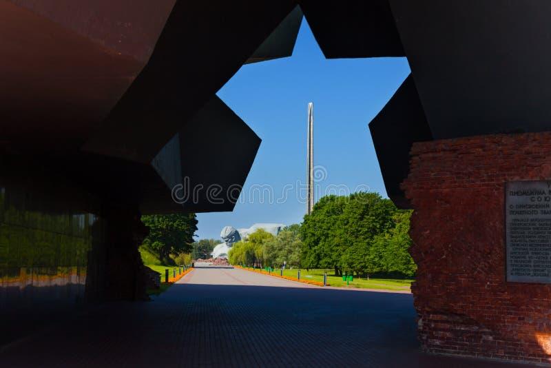 Portoni alla fortezza di Brest immagini stock libere da diritti