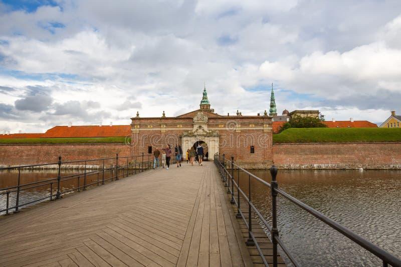 Portoni del castello di Kronborg fotografia stock libera da diritti