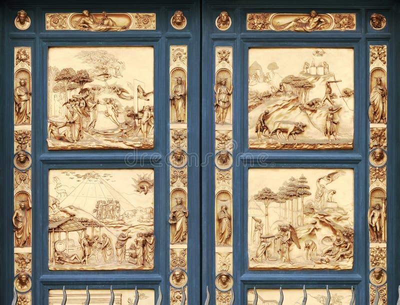 Portoni del paradiso al battistero, Firenze (AIS immagini stock