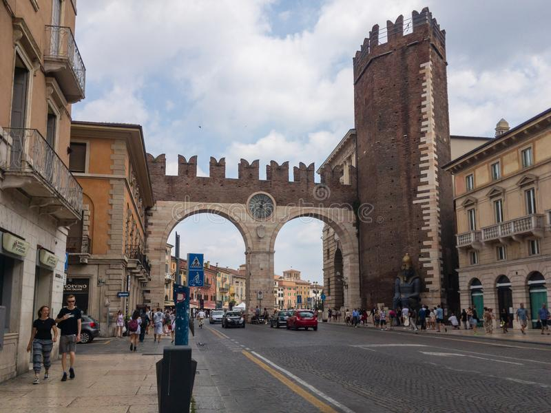 Portoni della胸罩在维罗纳,意大利 库存照片
