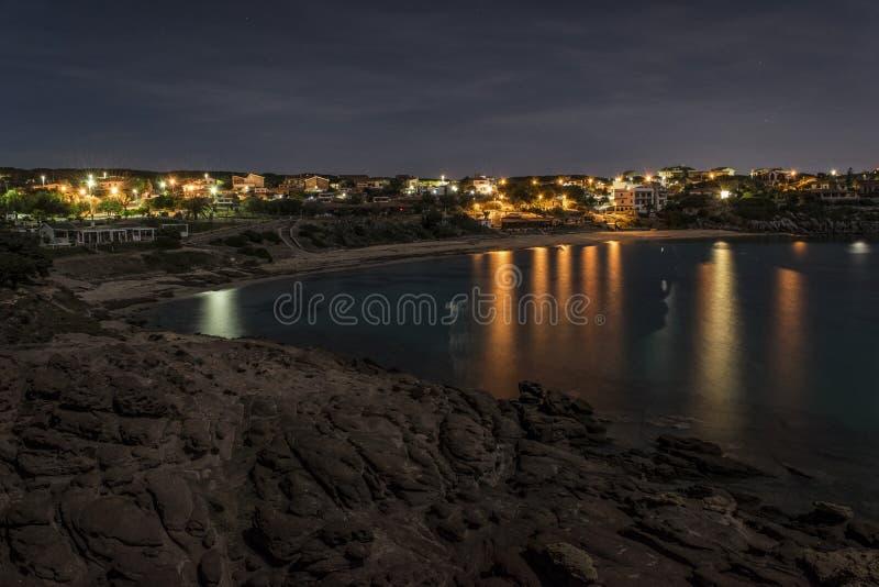 Portopaglietto nachts lizenzfreie stockfotografie