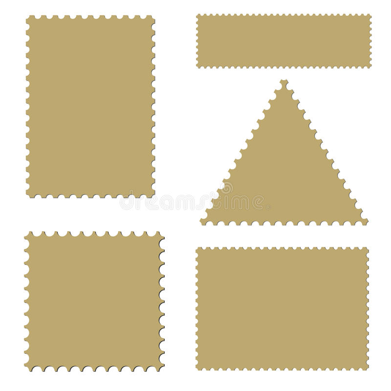 Portoschablone eingestellt (Vektor) vektor abbildung