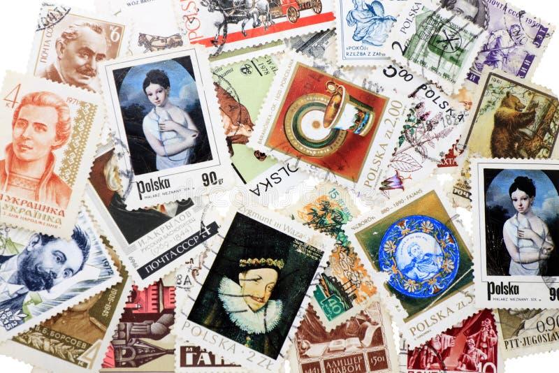 portostämpel arkivfoto