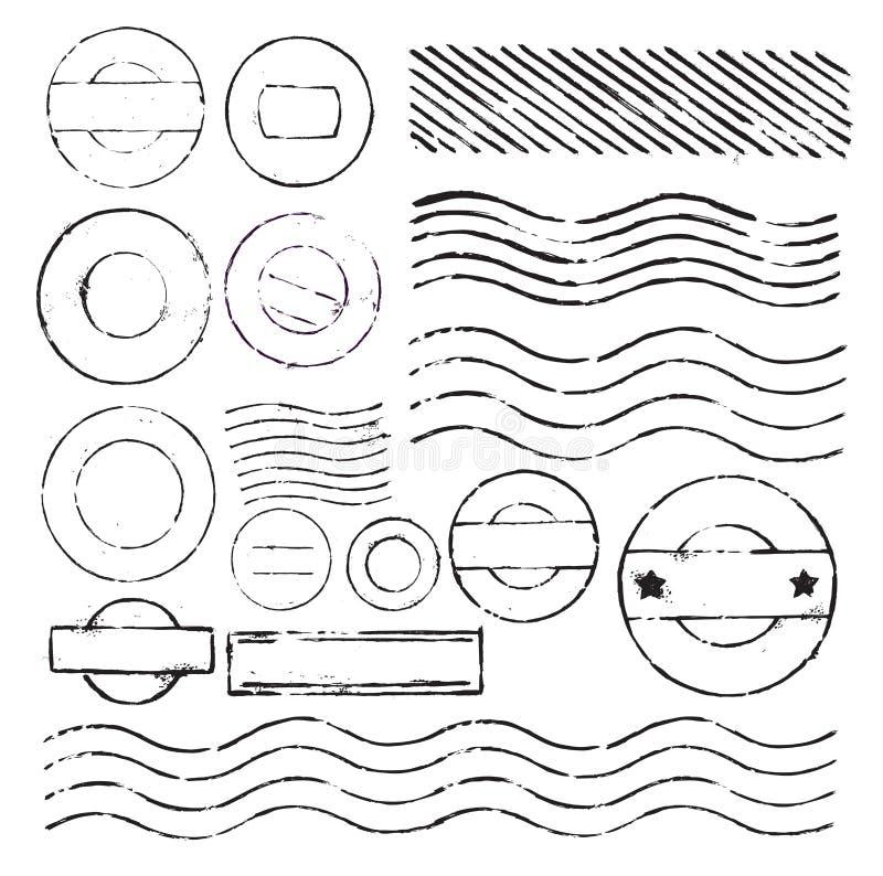 Portostämpel royaltyfri illustrationer