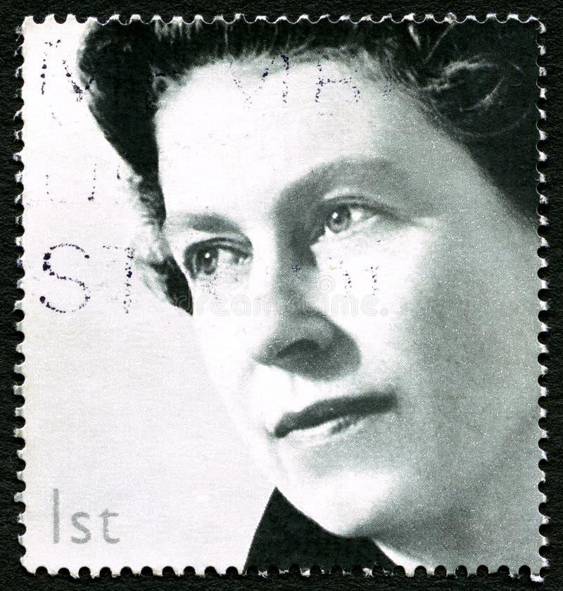Portostämpel för drottning Elizabeth II UK royaltyfri bild