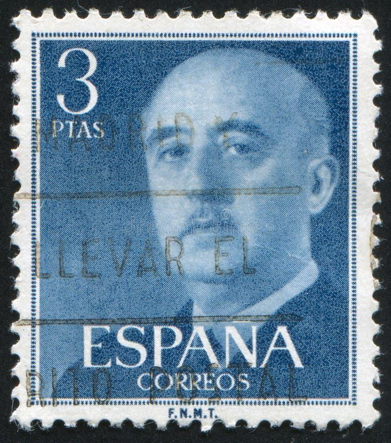 portostämpel som skrivs ut av Spanien royaltyfria bilder
