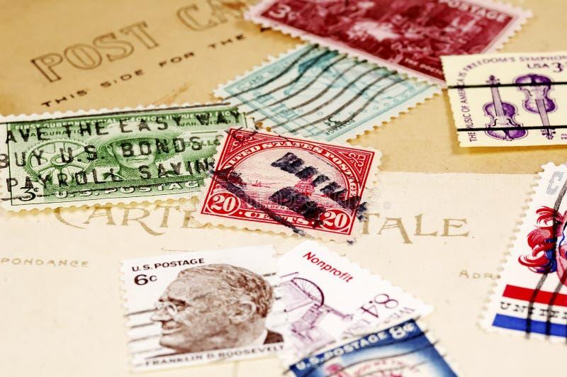 portostämplar royaltyfri fotografi