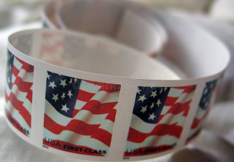 portostämplar USA fotografering för bildbyråer