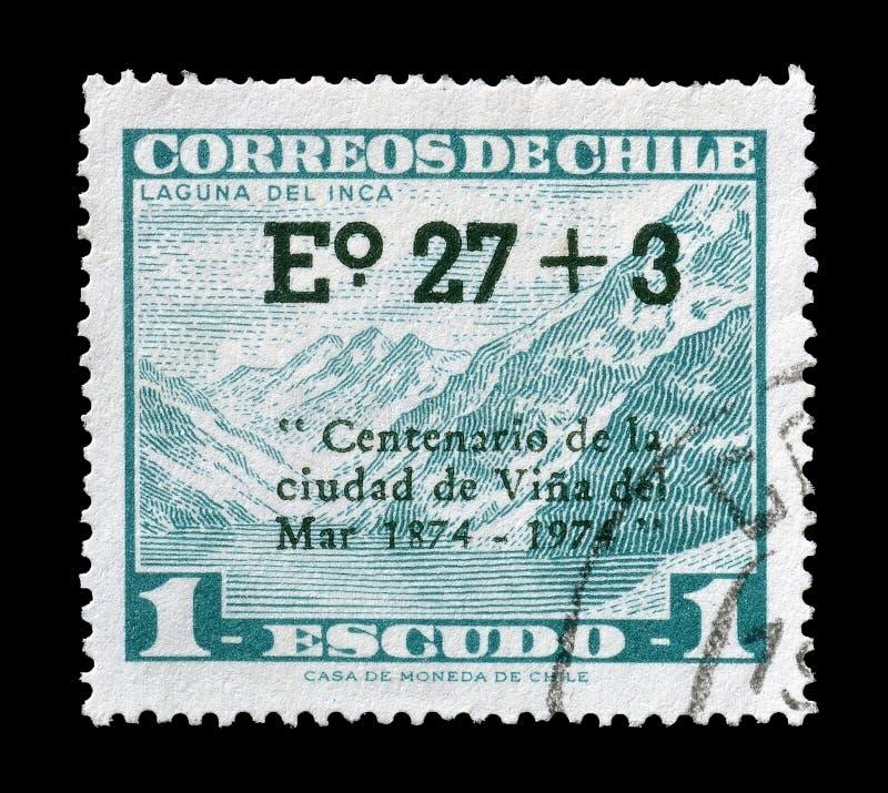 Portost?mpel som skrivs ut av Chile royaltyfri fotografi
