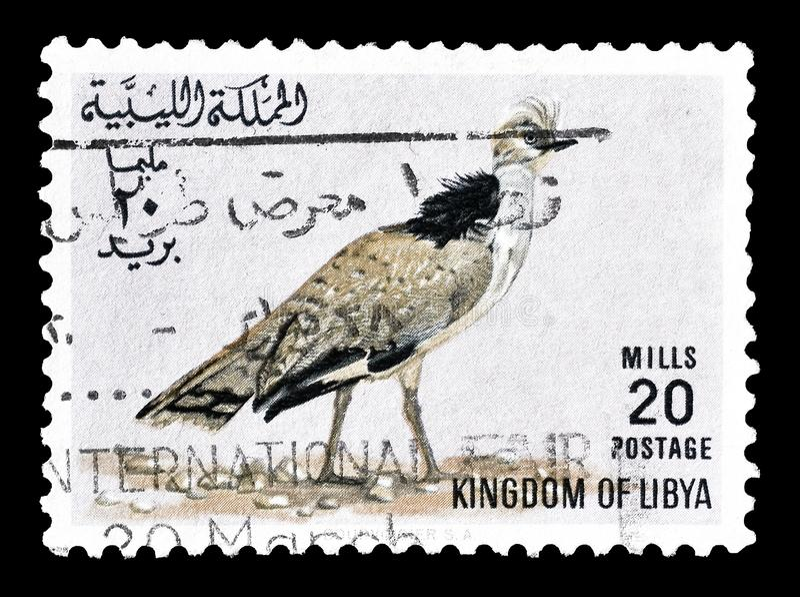 Portost?mpel som skrivs ut av Libyen arkivbild