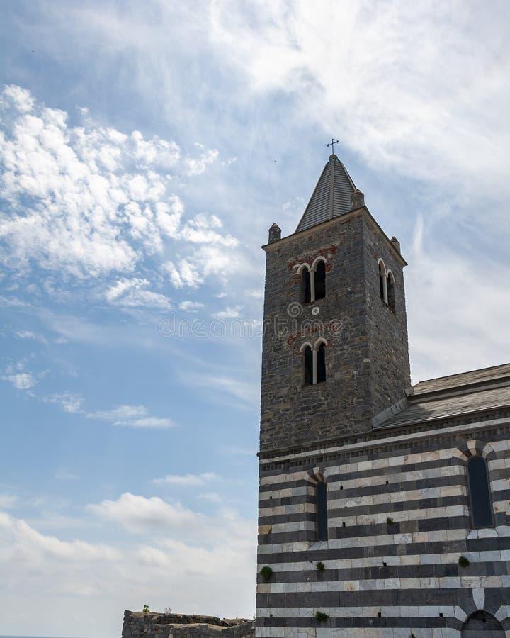 Portovenere, Itali? Mooi kustdorp met de beroemde golf van dichters die de gedichten van Byron inspireerde stock foto