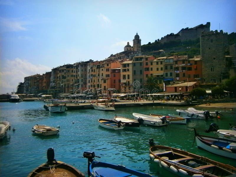 Portovenere Liguria arkivbild